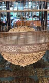 "🇨🇳 china 23"" hand crafted shama cage"