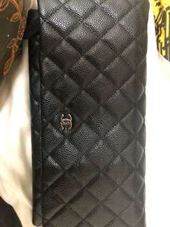 Chanel caviar leather clutch