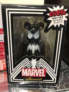 Be@rbrick Marvel Black Spiderman L@st 賞 100%