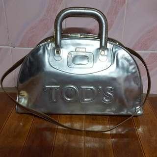 tods metallic large doctor bag
