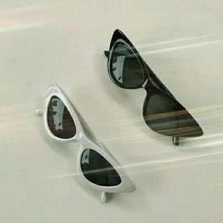 Blair - Cat Eye Sunnies (B&W, Black)