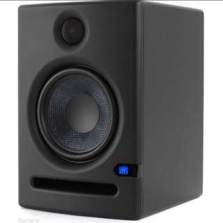 Presonus Eris E5 Studio Monitors Pair Speakers Music Production with Adjustable Controls