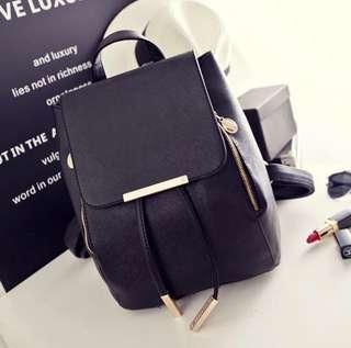 Korean Black Backpack