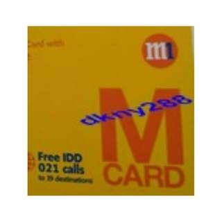 M1 Prepaid SIM Card $38.60 Value (Card Not Used Before)
