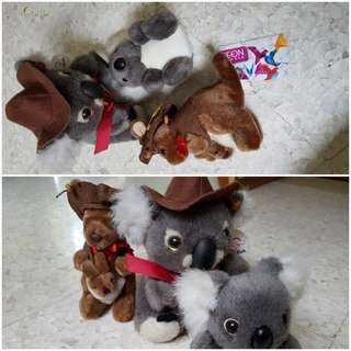 Australia koala x2 and kangaroo