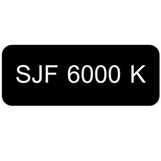 Car Number Plate for Sale: SJF 6000 K