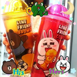 Line friends 7-11 思樂冰膠杯 兔兔Cony