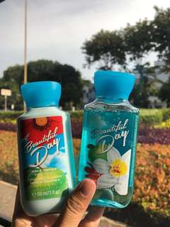 Get 2, 1 body wash and 1 body lotion (travelling size)
