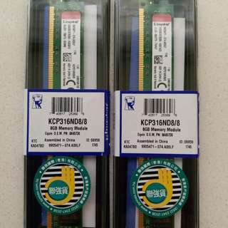 KINGSTON 8GB DDR3 1600MHz CL11