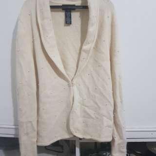 Beaded fleece sweater