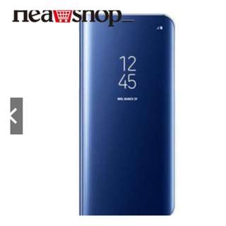 HEA Clear Mirror Stand Case Cover Shell For Samsung S7 edge - BLUE ONLY