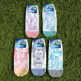 Drawing Disney Mickey, Minnie, Donald, Daisy, Pluto Korean socks