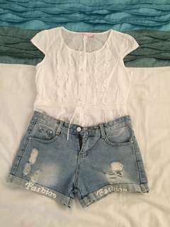 Blouse with short