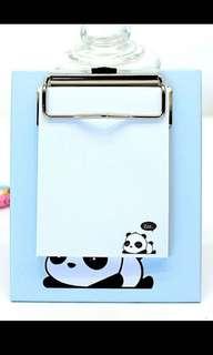 Blue Panda Notepad + Mini Clipboard
