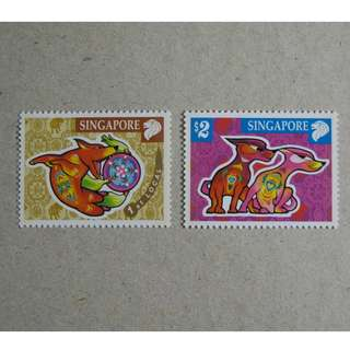 新加坡 Singapore - 2006 十二生肖 狗年 郵票 Zodiac Year of the Dog Stamp Set MNH