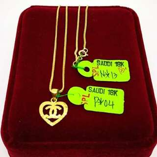 21k Saudi gold necklace