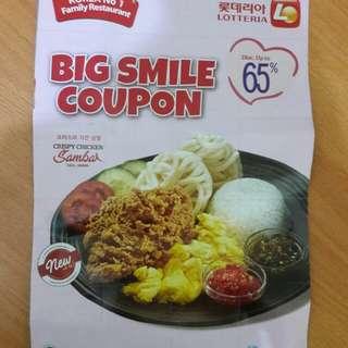 New Kupon Diskon 65% Lotteria Take All