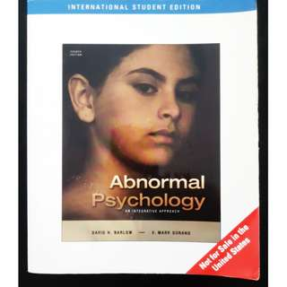 Abnormal Psychology: An Integrative Approach, 4th Edition