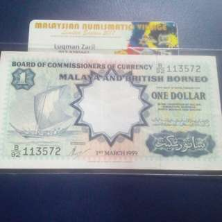 1 dollar malaya and british borneo