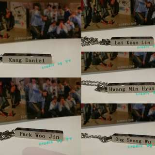 Wanna one necklace(Ready stock!!!)