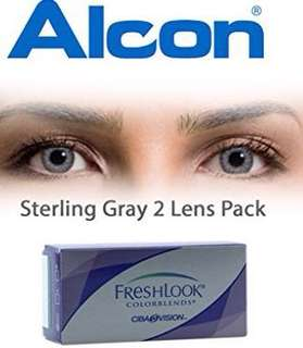 Contact lens with free solution