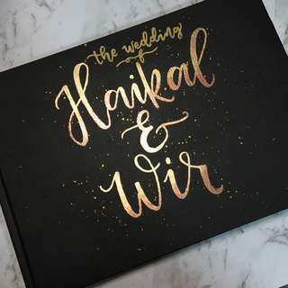 Custome Embossed Guestbook