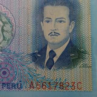 1982年 美洲 秘魯 500元紙幣 全新直版