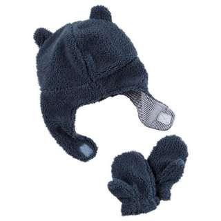 Carter's Sherpa Hat & Mitten Set