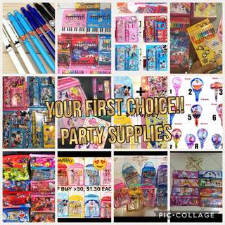 ONE STOP PARTY SUPPLIES - GOODIE BAG / GOODY BAG / STICKERS / BALLOON / STATIONERY SET / PUZZLE / PAPER BAG/ PENCIL BOX / GIFT BAG