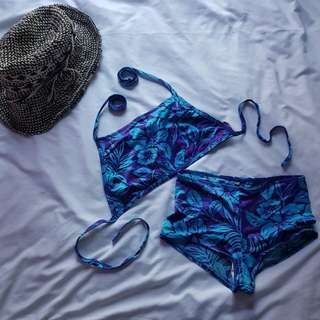 Two piece boyleg swimsuit