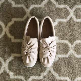 Stradivarius Baby Pink Slip On Sneakers