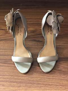 Mark & James by BADGLEY MISCHKA Rosette Nude Strappy Pumps