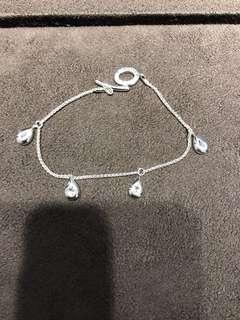 Links of London 4 drop white topaz bracelet 手鏈 **全新