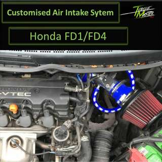 Customize Air Intake For Honda FD1/FD4 . Air intake with maf kit . Labour Available.