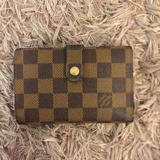 Louis Vuitton Damier Ebene Wallet Authentic