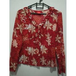 Esprit Red Flower Blouse