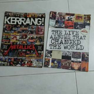 METALLICA &  Live Album magazines..