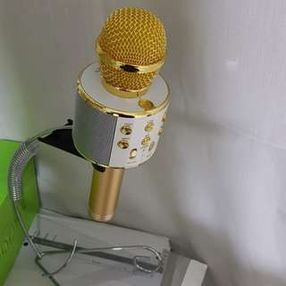 WS858 portable gold bluetooth wireless microphone