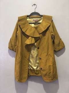 Authentic MARNI Ruffled Mustard Coat