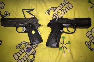 黑銀雙槍Beretta Px4 .45 and Baby High Capa 3.5 BB氣槍