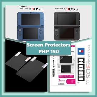 Old and New 3DS XL Screen Protectors