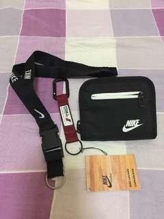 Nike Heritage Wallet + Nike Lanyard + TRD Keychain