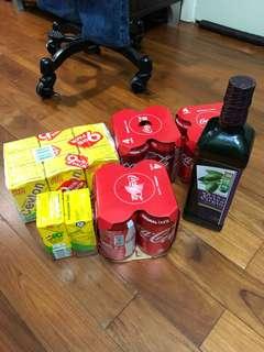 12盒維他檸檬茶12罐🉑️口可樂1000毫升獅球嘜橄欖油