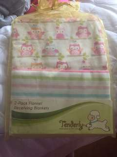 Tenderly Flannel Receiving Blankets (2-pc pack)