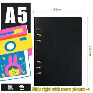 學霸系列 A5筆記 notebook 黑色 black