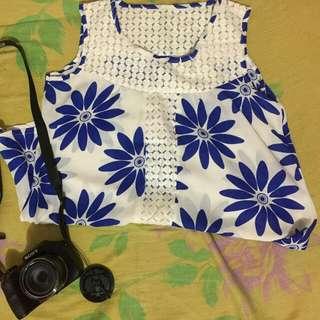 Aurora's floral blouse