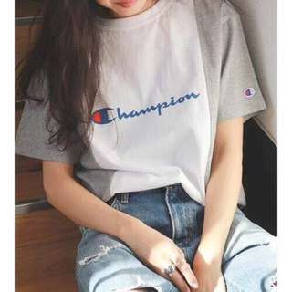Champion tee with 3 colors