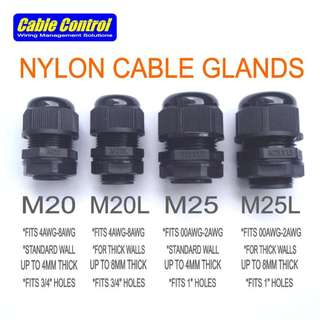 Cable Control Nylon Cable Glands , Waterproof Seal Grommets