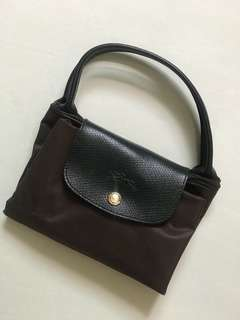 Longchamp medium size 啡色 handbag