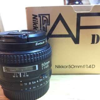 Nikon AF 50mm f1.4 D - Excellent condition